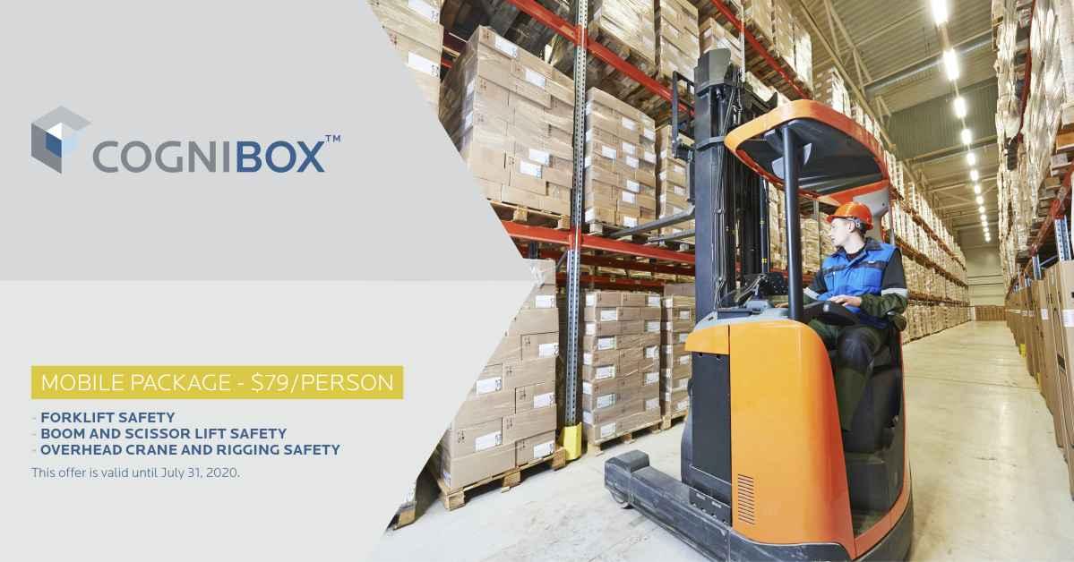 Mobile Package : Forklift Safety + Boom and Scissor Lift Safety + Crane and Hoist Rigging Safety